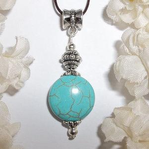 Turquoise Blue Adjustable Size Necklace NWT 4840